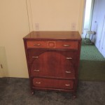 "Lot # 16: Four drawer dresser  33"" X 18"" X 44"" sold with vanity set only."