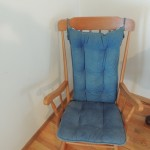 Lot #5: Rocking chair with pad, nice condition.